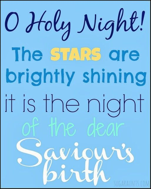 O Holy Night Free Christmas Printable   Holy night, Aunt and Free