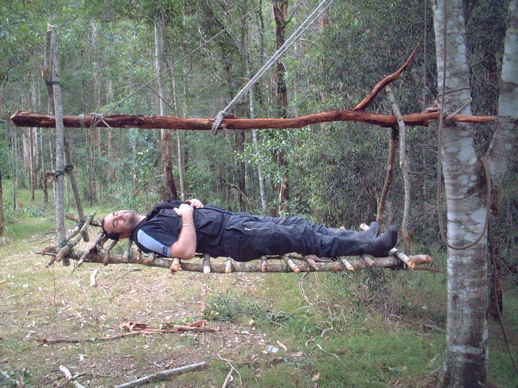 Tree Swinging Shelter Tested