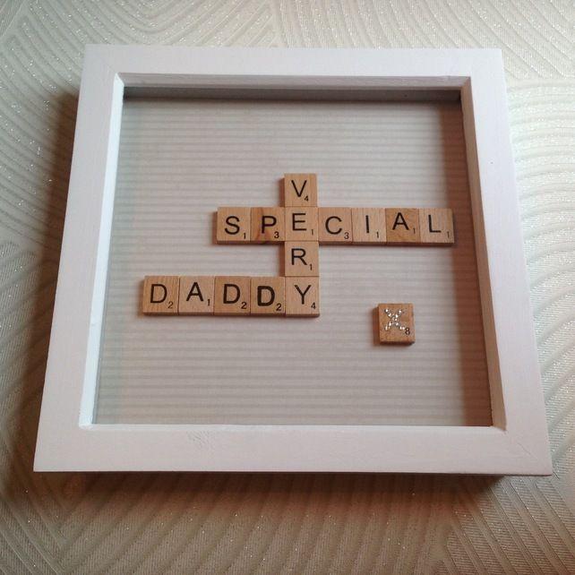 Word Art, Gift For Dad, Father's Day, Dads Birthday, Swarovski