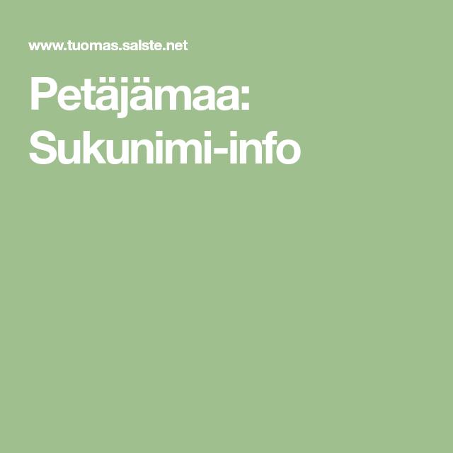 Sukunimi Info
