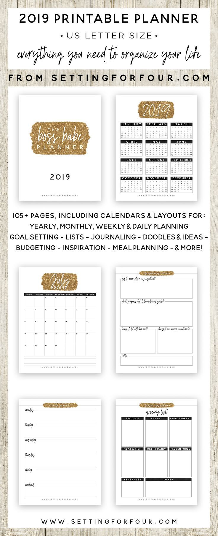 2019 Boss Babe Planner 106 Pages Bloggers Best Diy
