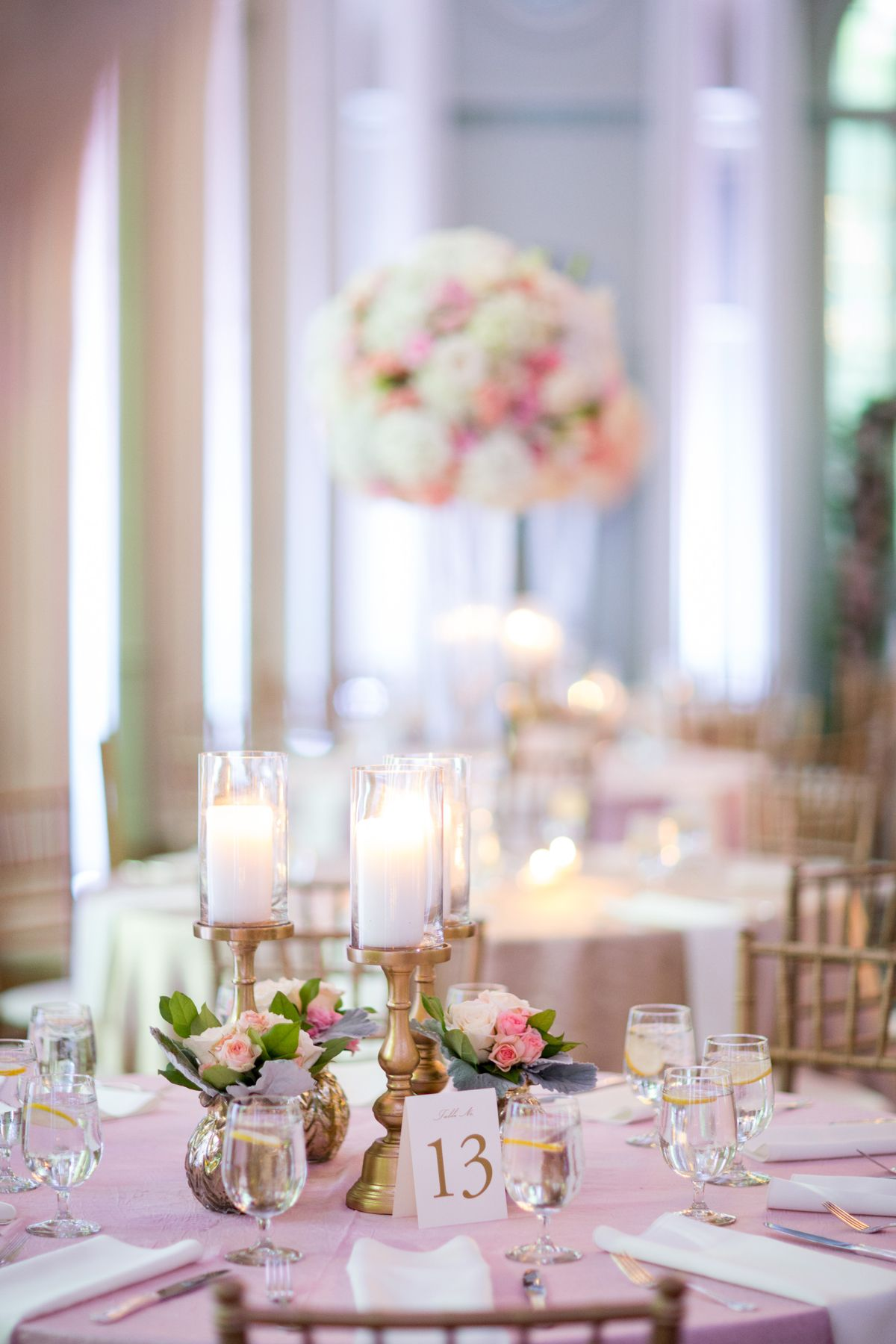 Gold and Pink Wedding Reception | Pink wedding receptions, Reception ...