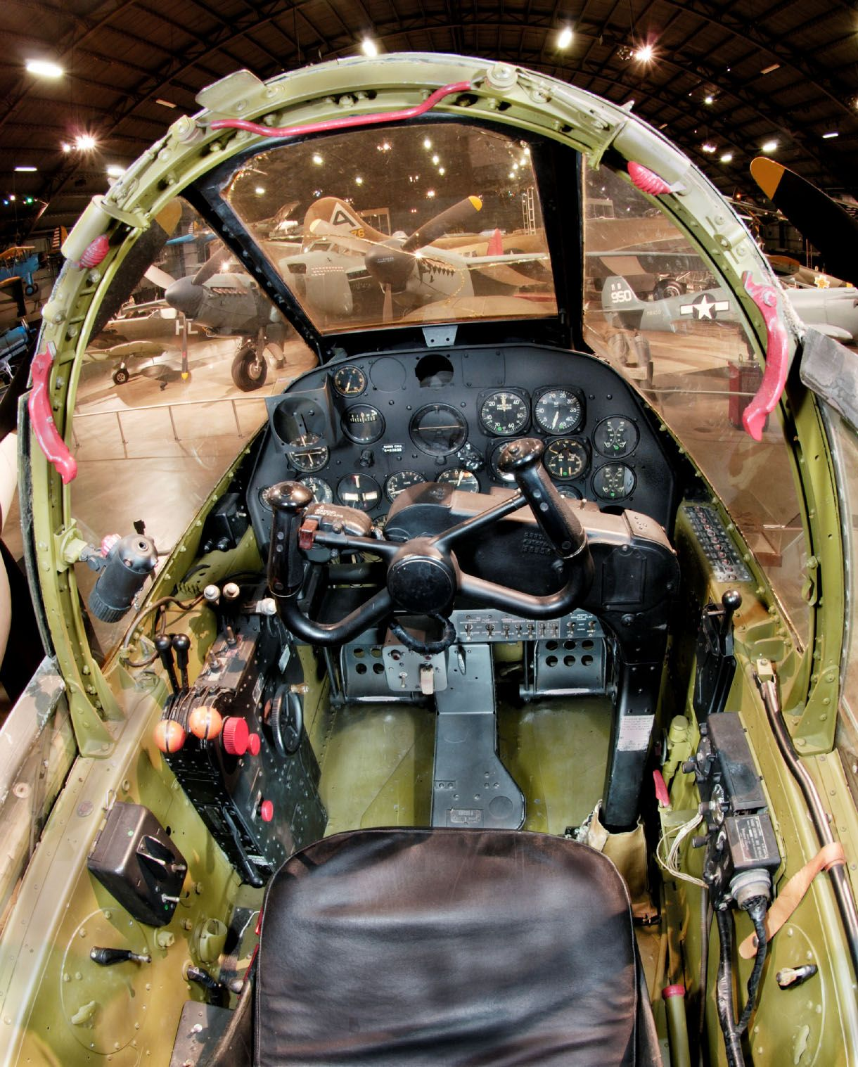 lockheed p 38l cockpit at the national museum of the united states air force dayton ohio. Black Bedroom Furniture Sets. Home Design Ideas