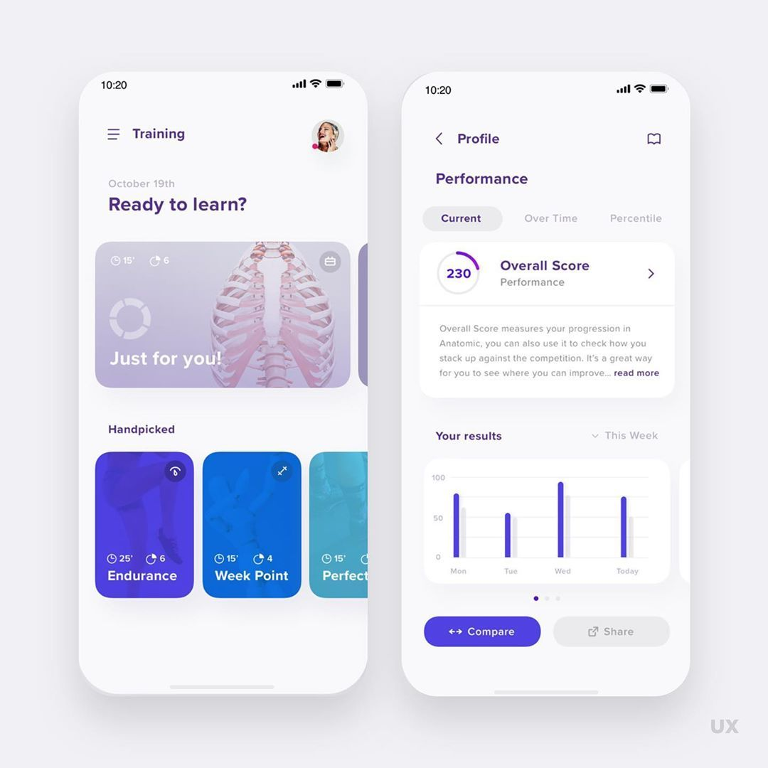 Training App - Follow @uxmobile for a Daily Mobile