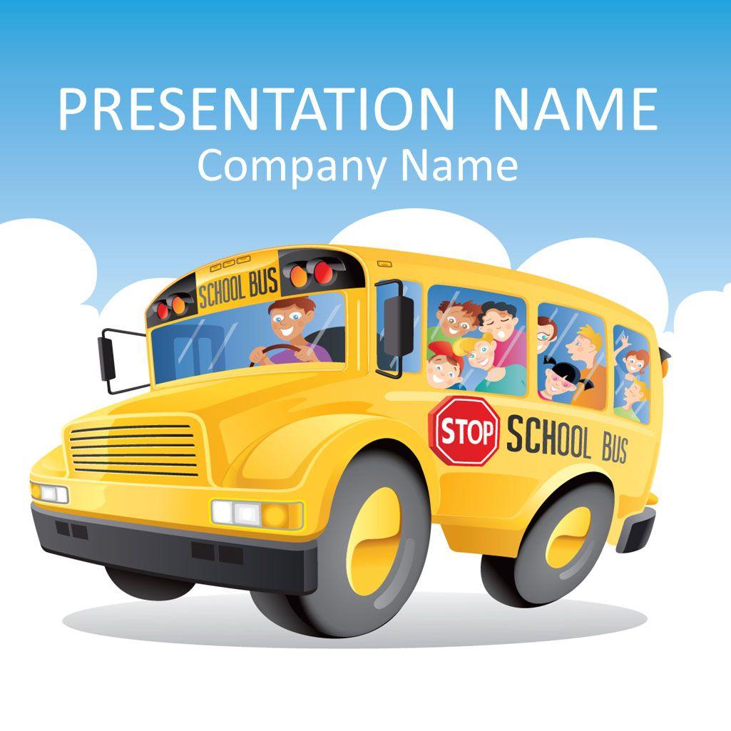 School bus powerpoint template teacher ppts pinterest school school bus powerpoint template toneelgroepblik Images