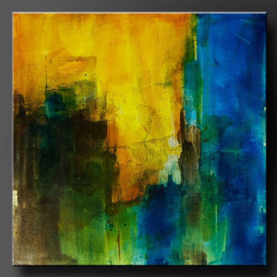 Threshold - 24 x 24 - Abstract Acrylic Painting - Contemporary Wall ...