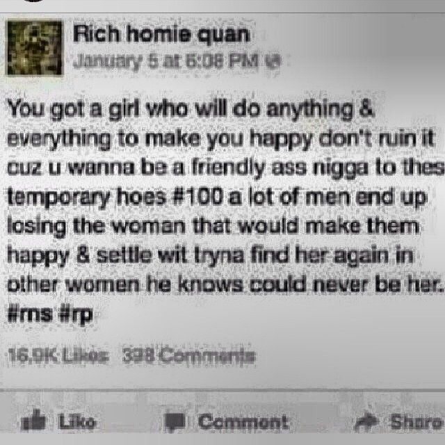 True With Images Relationship Quotes Rich Homie Quan