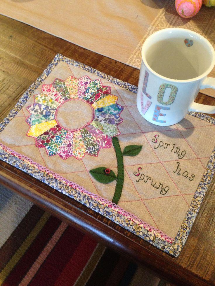 Liberty Spring has Sprung ladybug mug rug   Mug Rug Inspiration ...