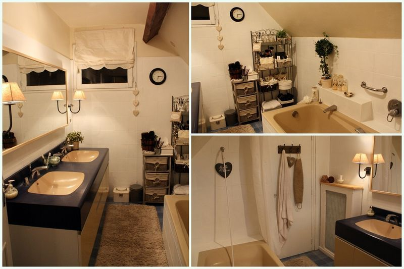 Le carrelage a t repeint avec une peinture salle de bain acrylique apr s avoir re u une bonne for Peindre le carrelage mural de la salle de bain