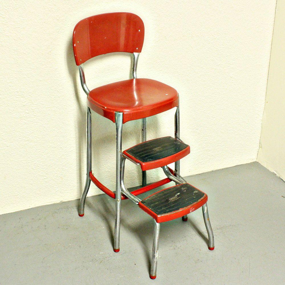 Vintage stool - step stool - kitchen stool - Cosco - chair ...