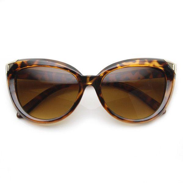 Womens Oversize Fashion Butterfly Shape Sunglasses 9225 ($9.99) via Polyvore