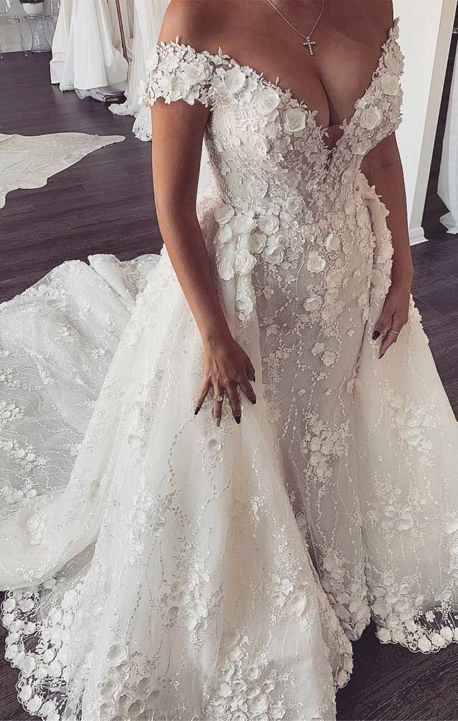 57 Stunning Wedding Dresses With Detachable Skirts in 2020