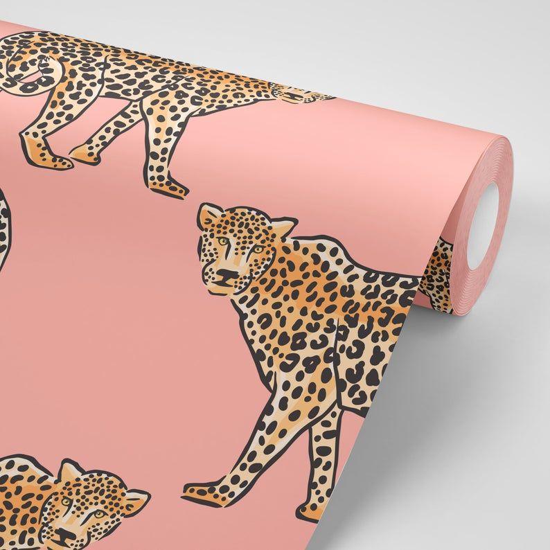 Jungle Leopard Removable Wallpaper Tropical Removable Wallpaper Peel And Stick Wallpaper Adhesive Wallpaper Free Shipping In 2021 Peel And Stick Wallpaper Leopard Wallpaper Removable Wallpaper