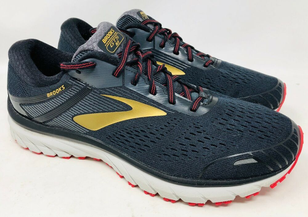 Brooks Adrenaline Gts 18 Men S Running Shoes Us Size 11 5 Wide 2e Brooks Runningshoes With Images Running Shoes For Men Black Running Shoes Brooks Running Shoes