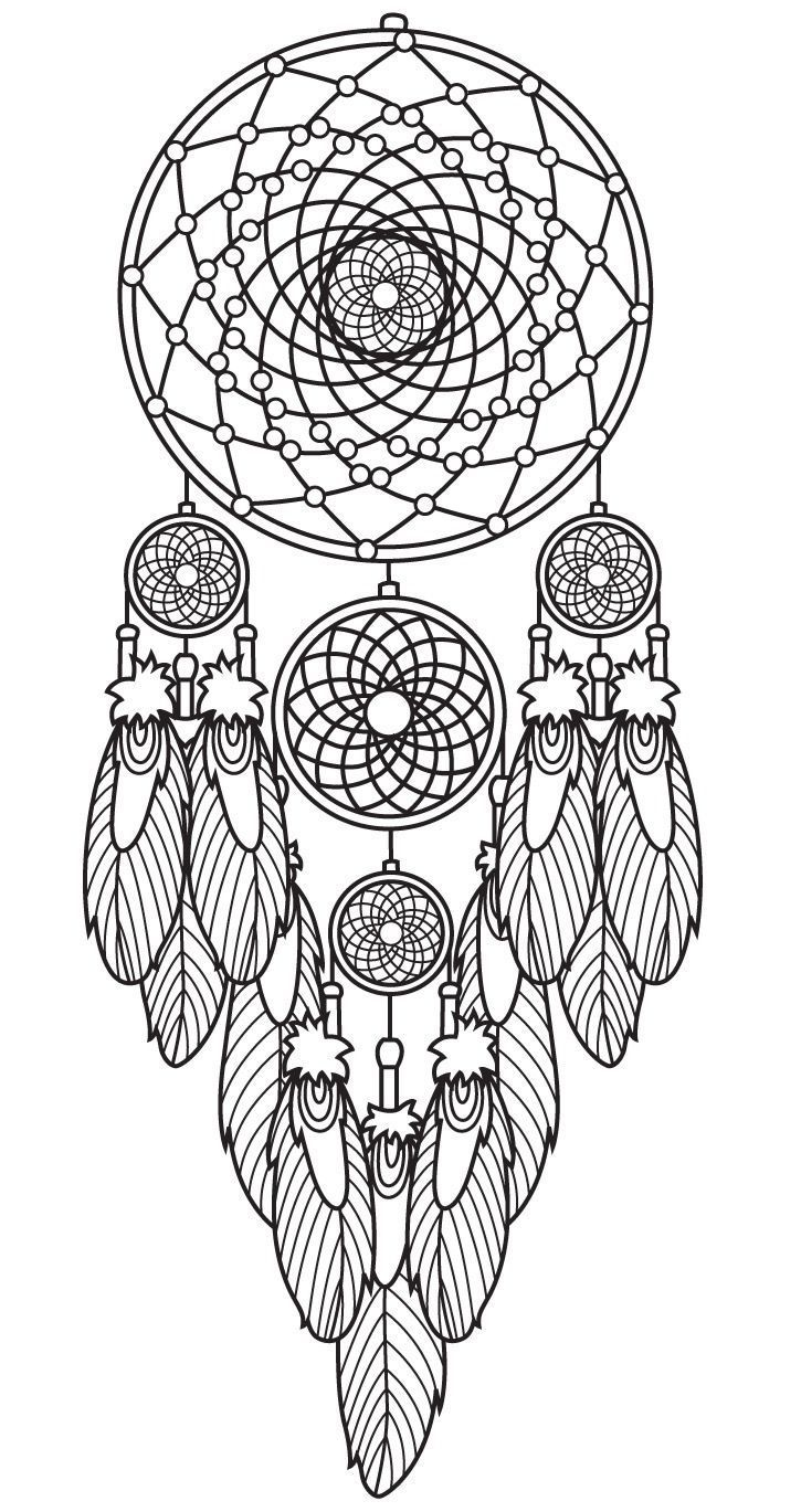 Dreamcatcher Coloring Page Colorish App Free Coloring App For Adults By Goodsofttech Dream Catcher Coloring Pages Mandala Coloring Pages Coloring Pages