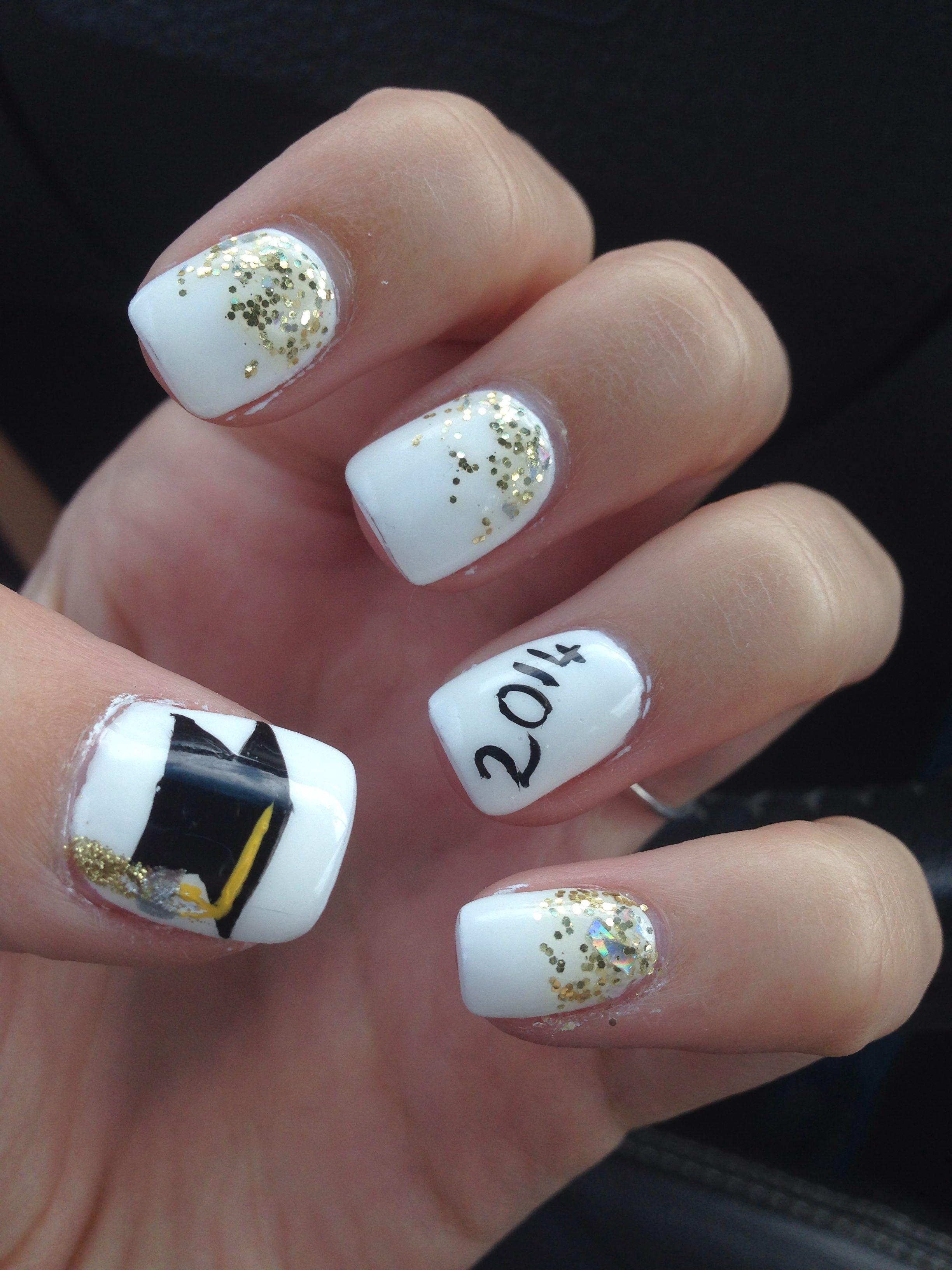 graduation acrylic nails
