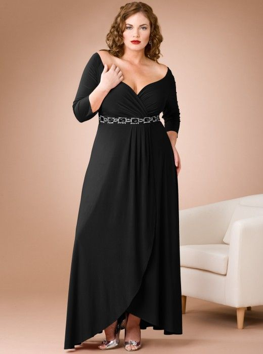 Black Plus Size Dress Very Elegant Plus Size Curvy Pinterest