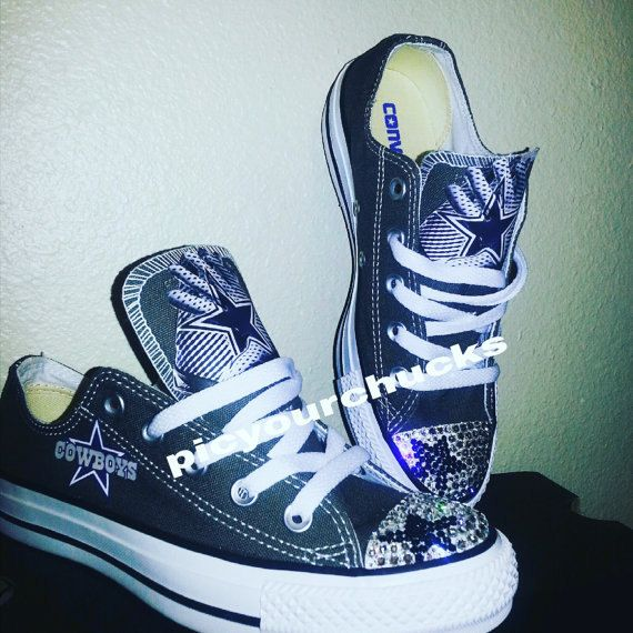 Toddler Kids Dallas Cowboys Converse by PicyourChucks on Etsy Dallas  Cowboys Shoes 46a2f3ba0