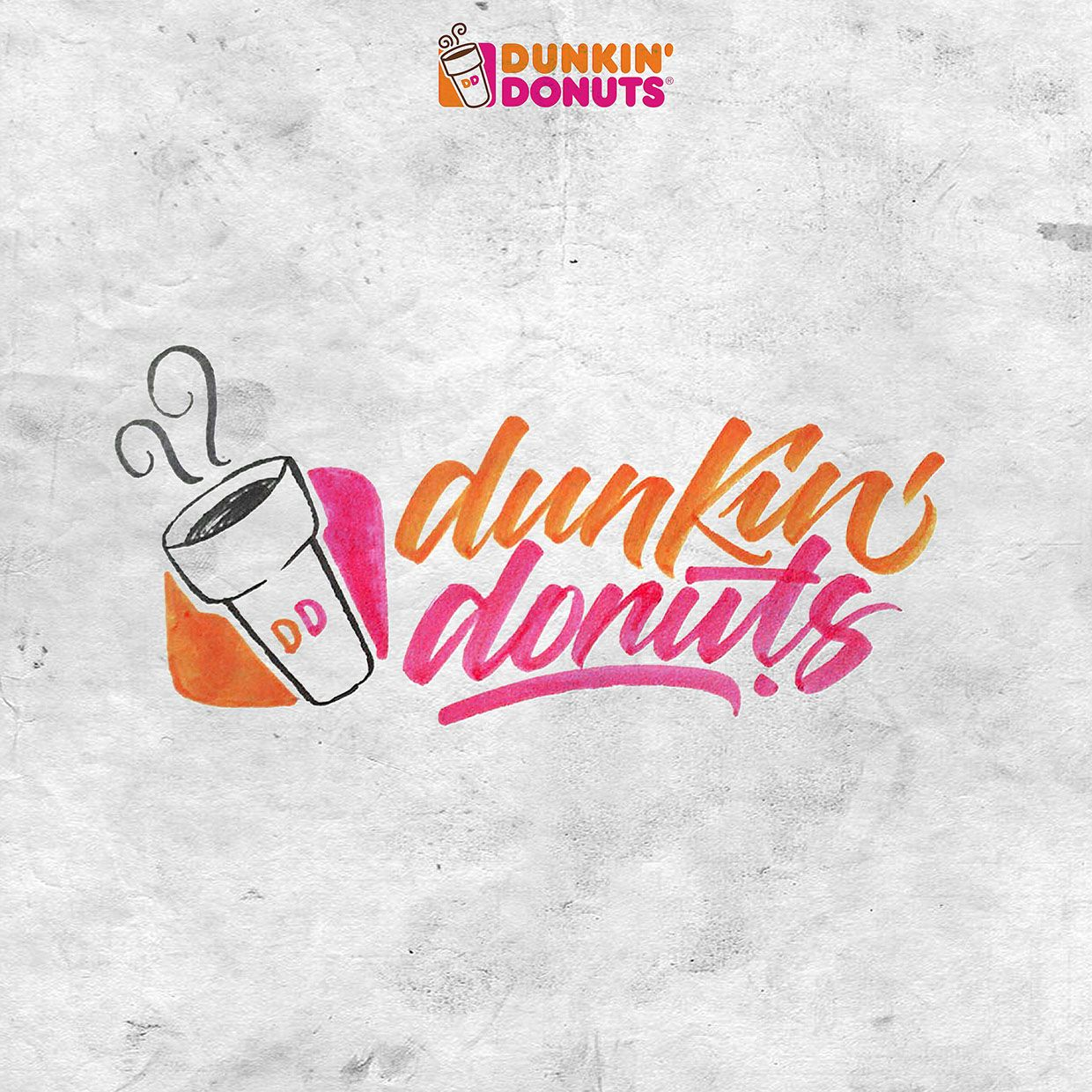 Dunkin Donuts Brush Lettering David Milan