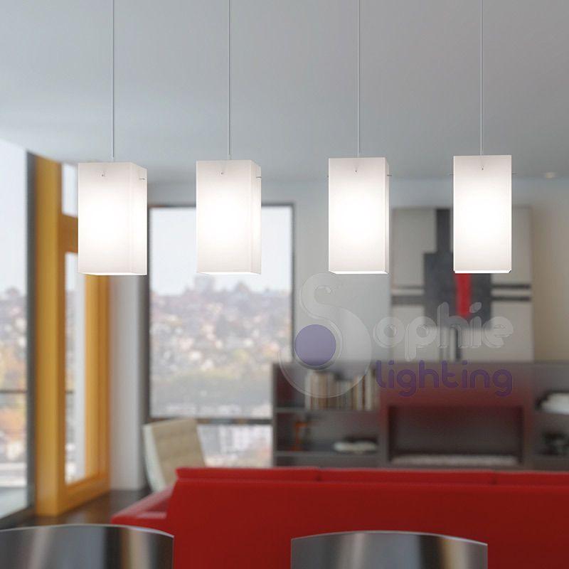 Lampadario lampada sospensione design moderno acciaio cromato ...