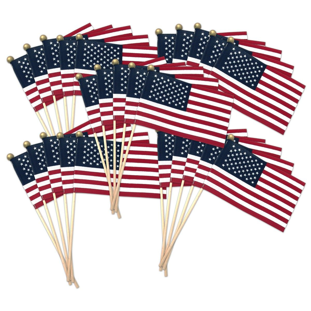 """Super Tough 4"""" x 6"""" Stick Flag Standard with Ball Tip in"""