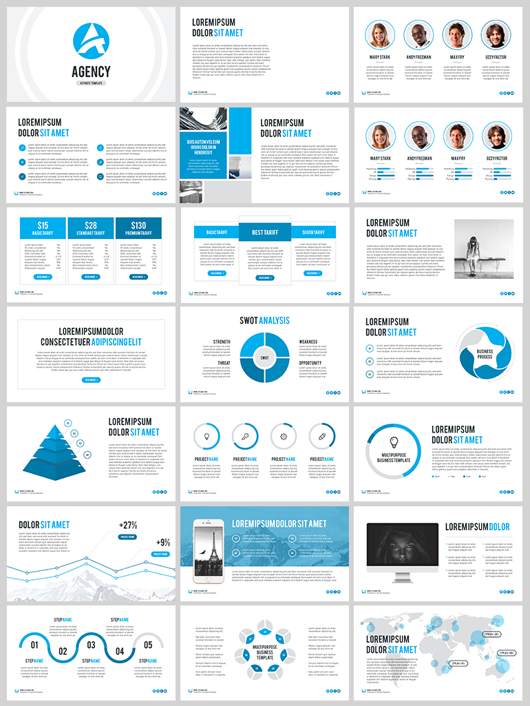 Agency Free Powerpoint Template Powerpoint Design Pinterest