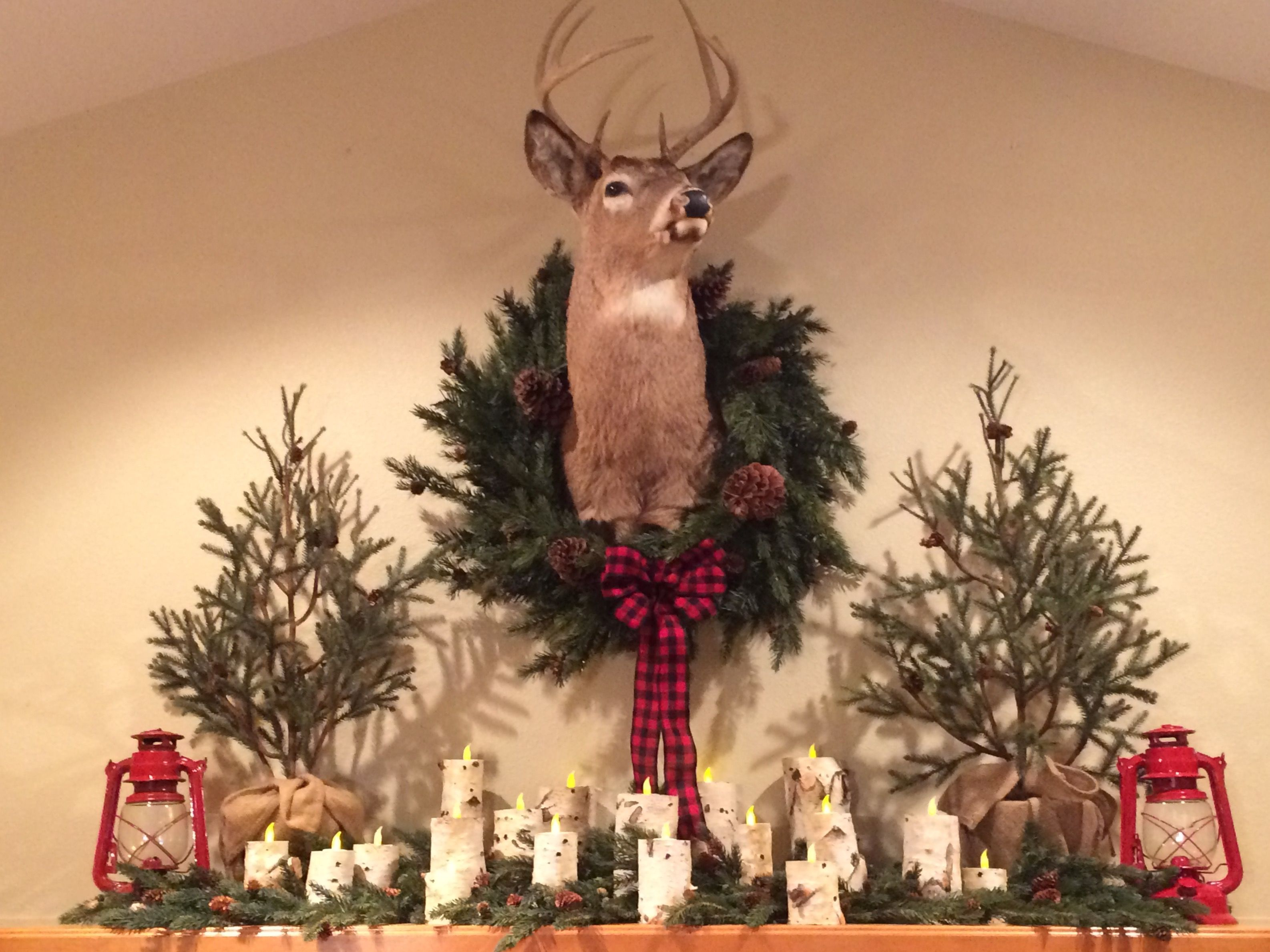 Christmas Wreath With Deer Antlers