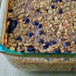 Blueberry Baked Oatmeal with Lentils