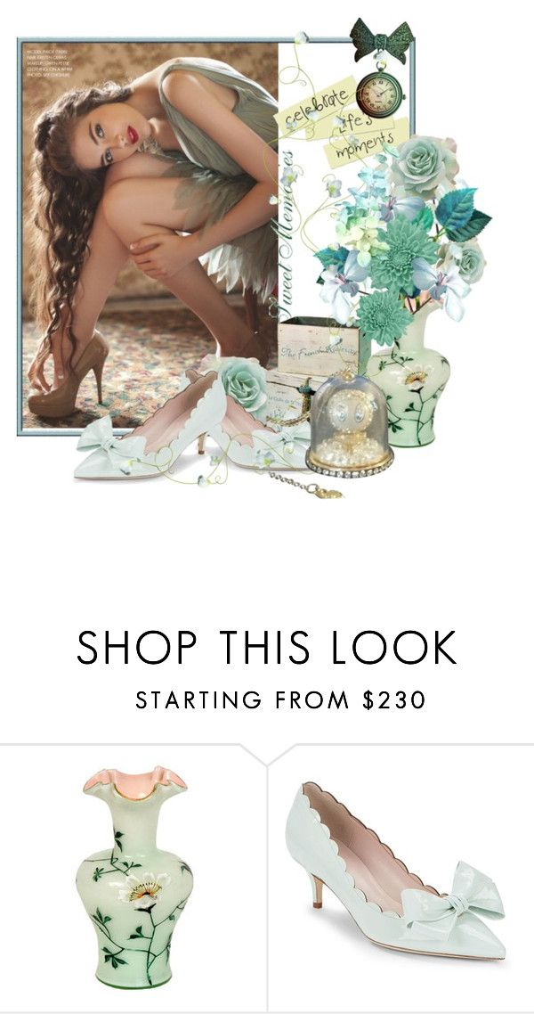 """""""Softy Elegant"""" by lindaweldon ❤ liked on Polyvore featuring Bebe, Kate Spade and Swarovski"""