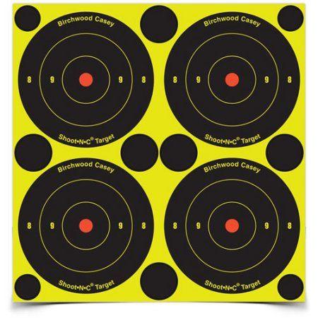 "Birchwood Casey 48-Count Shoot-N-C 3/"" Self Adhesive Reactive Targets 12 sheets"