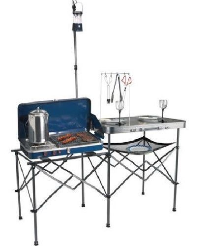 portable camping kitchen table cooking camp food folding organize rv gear hiking. beautiful ideas. Home Design Ideas