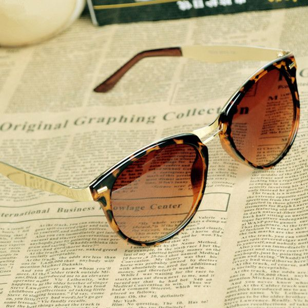 Cat Eye OverSized Round Sunglasses