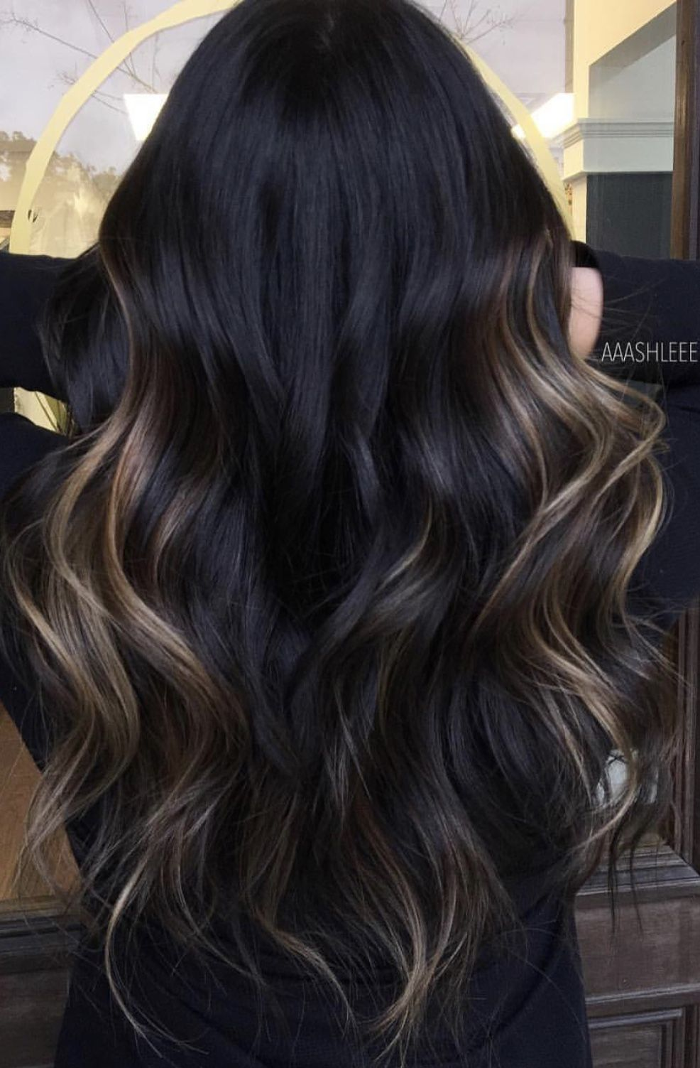 This Is Exactly What I Want Just A Few Highlights Peeking Through It S Not Too Much And Not Too Little J Hair Color Unique Long Hair Color Brown Hair Balayage