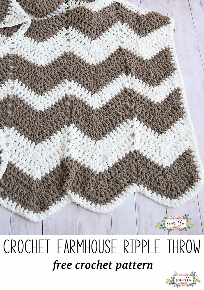Farmhouse Ripple Throw | Ganchillo, Colchas y Manta