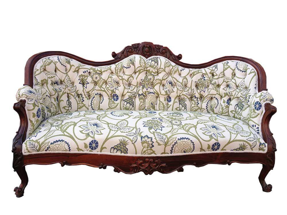 Marcel Vintage Floral Sofa in 2019 | Victorian sofa, Floral ...