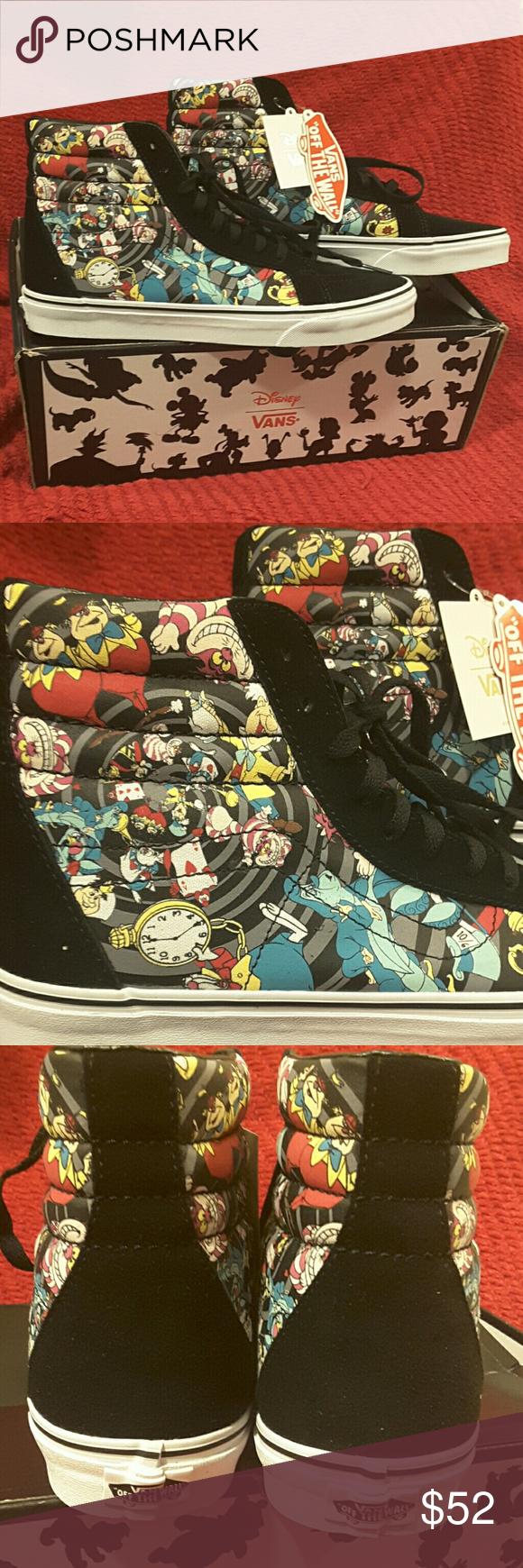 970e186ca60e13 Vans Rabbit Hole Alice in Wonderland Sneakers Vans SK8-Hi Reissue Disney  Rabbit Hole (Alice in Wonderland Sneakers. Women s size 11