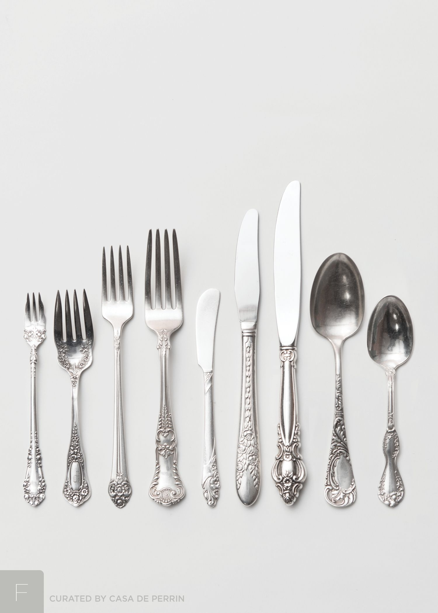 An Exquisite Curation Of Antique Sterling Silver And Silver Plate Flatware