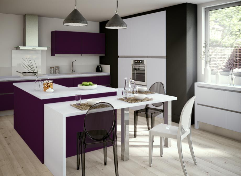 cuisine graphik aubergine cuisine pinterest lapeyre aubergines et cuisine violet. Black Bedroom Furniture Sets. Home Design Ideas