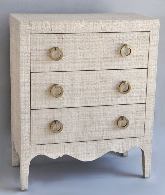 Just Inspiration Small Scale Gr Cloth Covered Dresser Night Stand