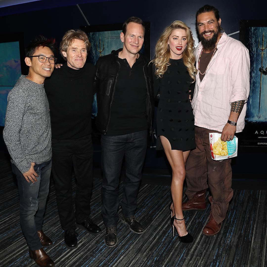 Amber Heard And Jason Momoa Photos Photos: Jason Momoa, Amber Heard, Patrick Wilson, Willem Defore