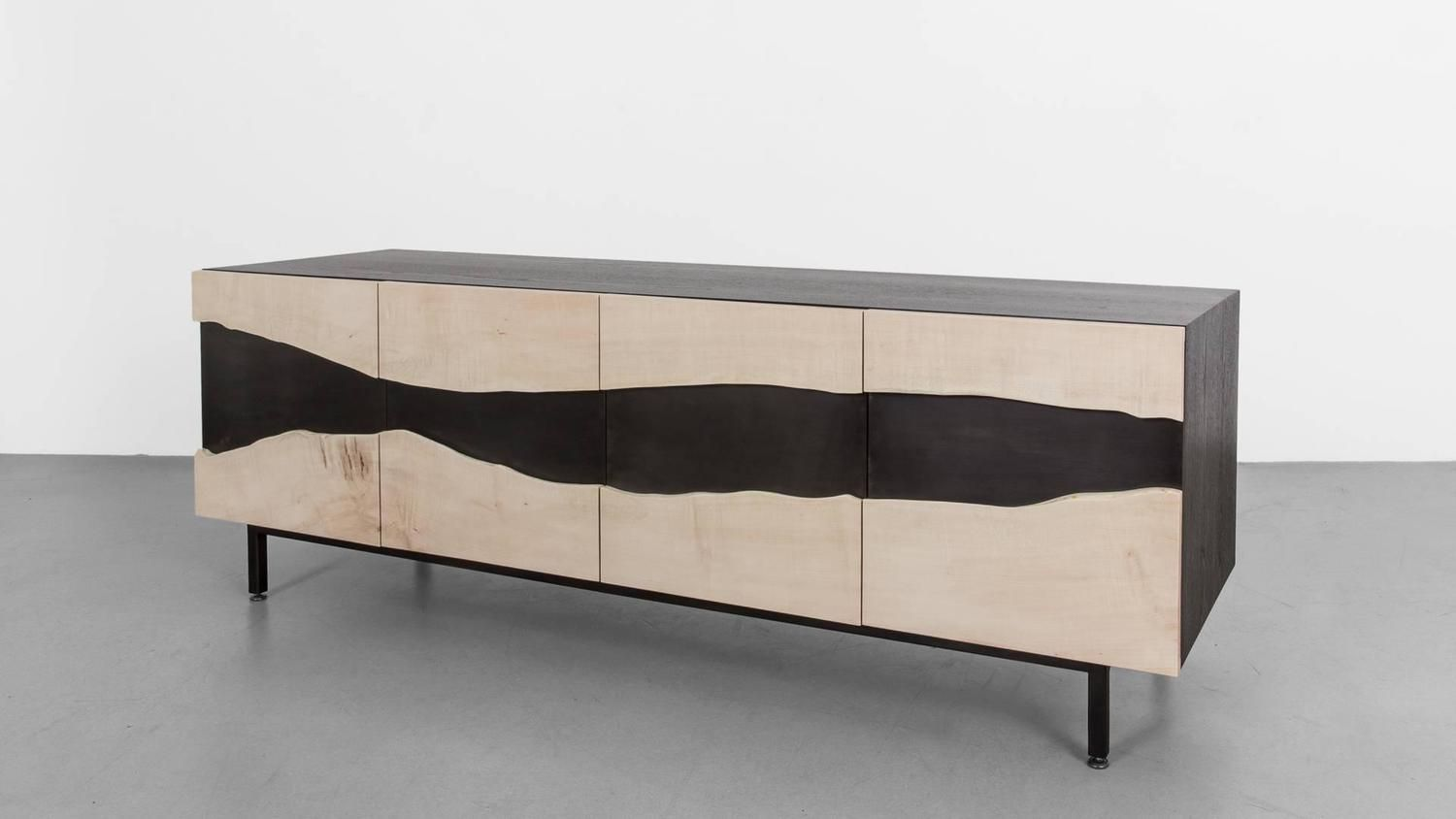 Summit media unit by uhuru design bleached maple blackened steel from a unique