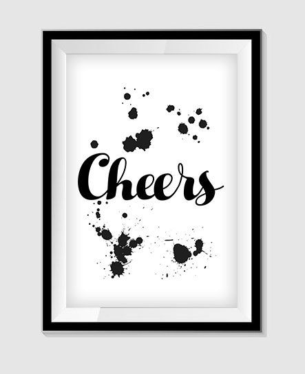 Cheers Printable Wall Art Home Decor Quote Poster Print Instant Download Quote Prints Funny Posters Christian Wall Decals