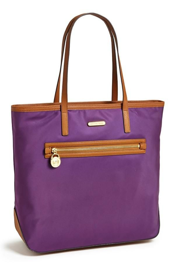 d9d1ac260a5b2f Sling a violet tote on your shoulder. MICHAEL Michael Kors 'Kempton' Nylon  Tote ...
