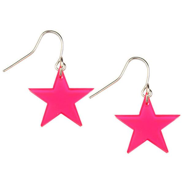 retrofancydress chain com pink neon earrings mail mesh