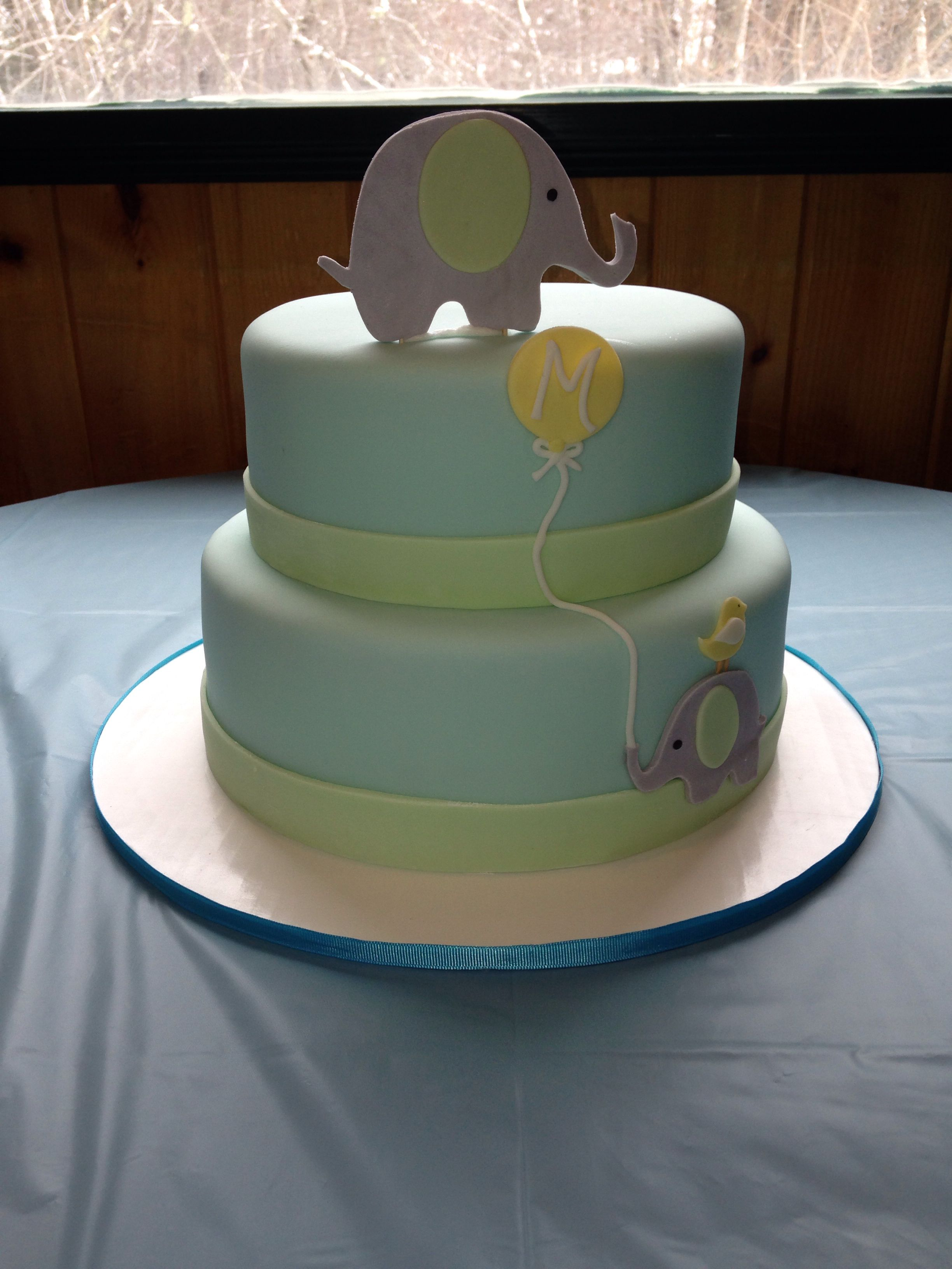 Elephant Baby Shower Cake, by Amy Hart