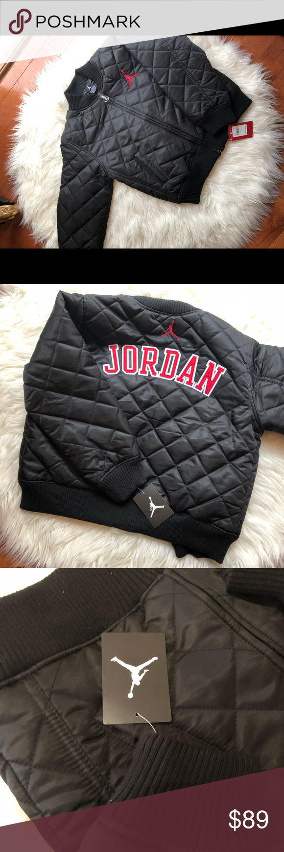 57697b5f6d0e Jordans Boys bomber jacket (size m) BRAND NEW Brand new boys bomber jacket  Size  boys Medium Never used with tags Jordan bomber jacket Perfect fall  jacket ...