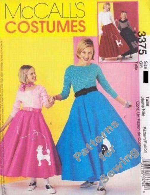 Items Similar To McCalls Pattern 3375 Womens And Girls Poodle Skirt Top Costumes On Etsy