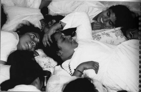 Amma in a group cuddle