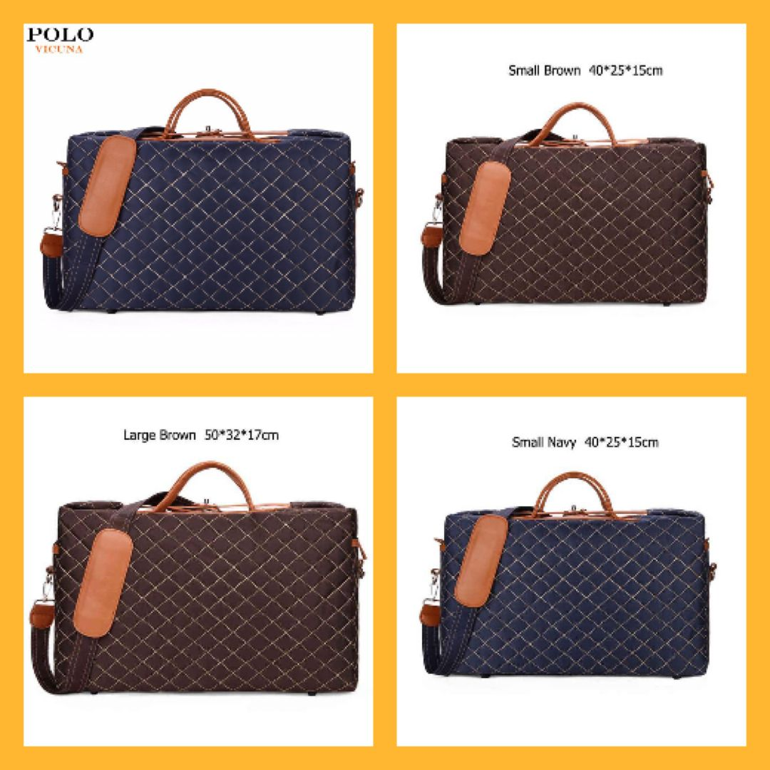 dee926f3e7 Luxury Large Travel Bag Burglarproof Rotary Buckle Fashion Travel Bag Unisex