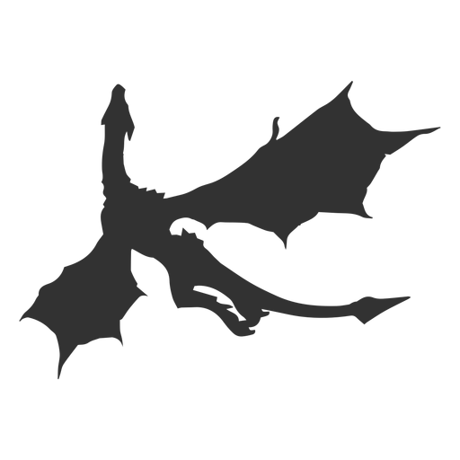 Dragon Flying Silhouette Ad Ad Paid Silhouette Flying Dragon Dragon Silhouette Animal Silhouette Dragon Drawing